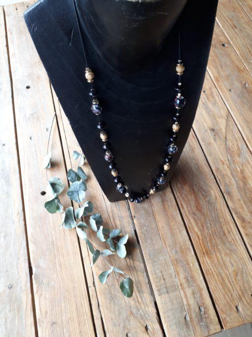 sweet boutik collier perle noir original doré