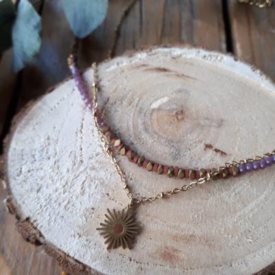sweet boutik collier acier perles verres tendance étoile