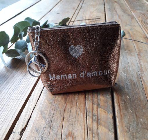 sweet boutik porte clef port monnaie maman d'amour message coeur
