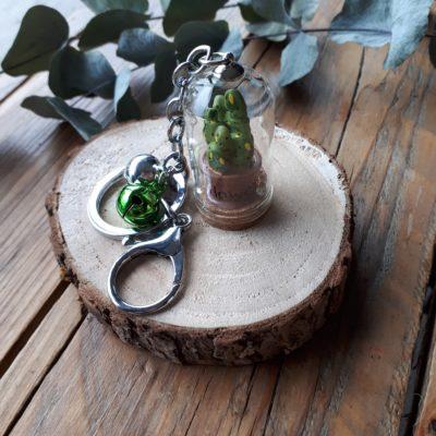 sweet boutik porte clef cloche en verre cactus flower