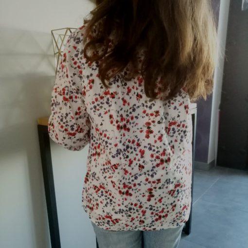 sweet boutik chemisier blanc à fleurs mini mignon collection fille
