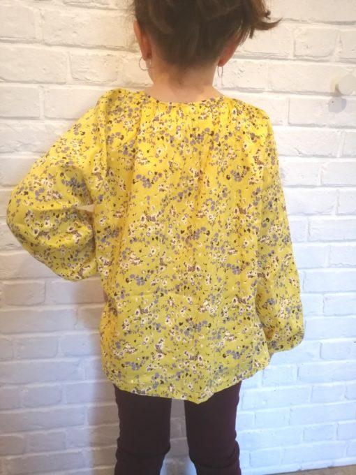 sweet boutik chemisier jaune à fleurs collection fille