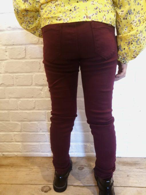 sweet boutik pantalon slim bordeaux mini mignon collection fille
